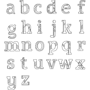 Lowercase Alphabet Coloring Page