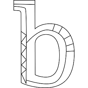Lowercase B Coloring Page