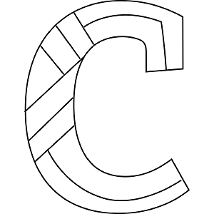 Lowercase C Coloring Page