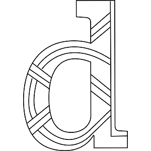 Lowercase D Coloring Page