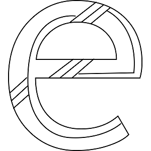 Lowercase E Coloring Page