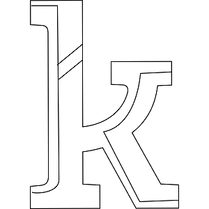 Lowercase K Coloring Page