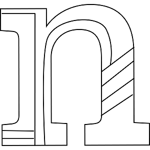 Lowercase N Coloring Page