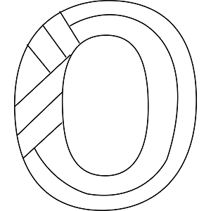 lowercase o coloring page