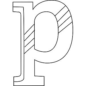 Lowercase P Coloring Page