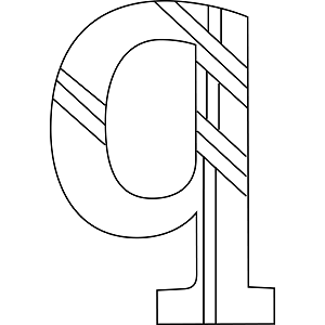 Lowercase Q Coloring Page