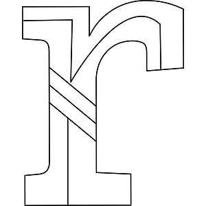 Lowercase R Coloring Page