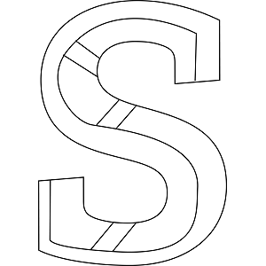 Lowercase S Coloring Page