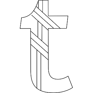 Lowercase T Coloring Page