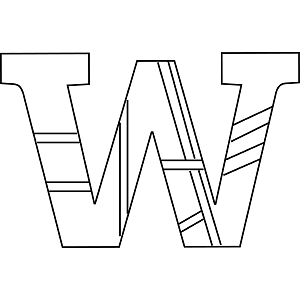 Lowercase W Coloring Page