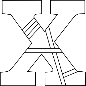 Lowercase X Coloring Page