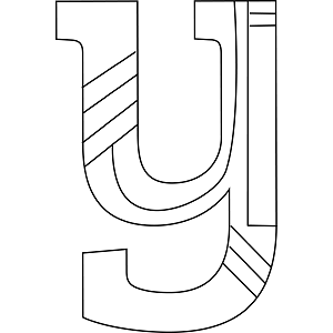 Lowercase Y Coloring Page