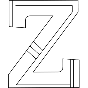 Lowercase Z Coloring Page