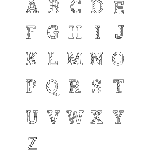 Uppercase Alphabet Coloring Page