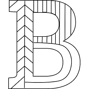 Uppercase B Coloring Page