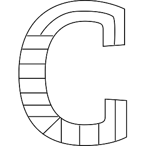 Uppercase C Coloring Page