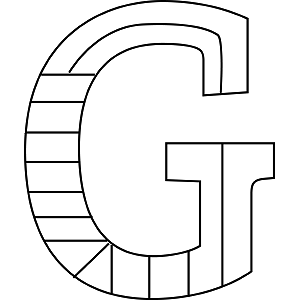 Uppercase G Coloring Page