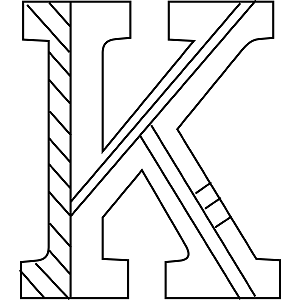 uppercase k coloring page - K Coloring Pages