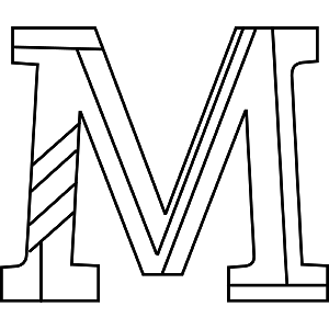 M Coloring Page