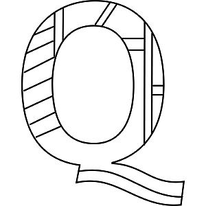 Uppercase Q Coloring Page