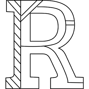 r coloring pages Uppercase R Coloring Page r coloring pages