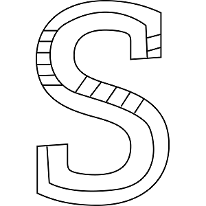 Uppercase S Coloring Page