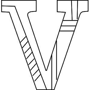 Uppercase V Coloring Page