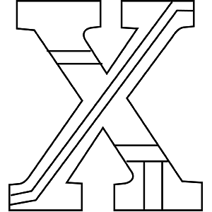 Uppercase X Coloring Page