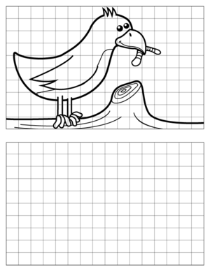 Bird-Drawing coloring page