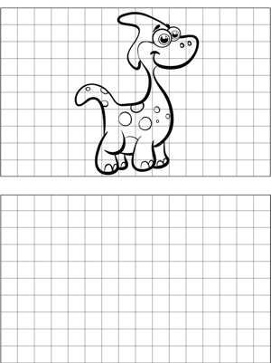 Cartoon Dinosaur Drawing coloring page