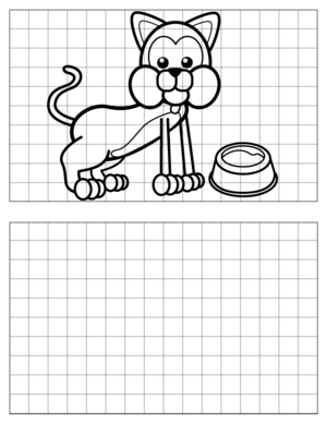 Cat-Drawing-1 coloring page