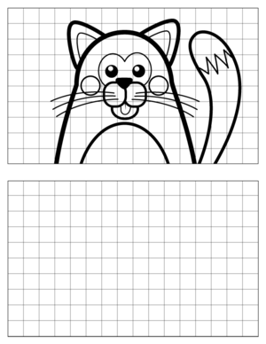 Cat-Drawing-3 coloring page
