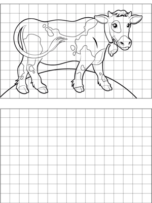 Cow Drawing coloring page