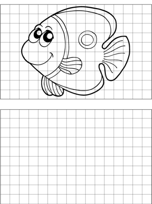 Coy Fish Drawing coloring page