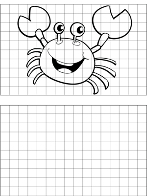 Crab Drawing coloring page