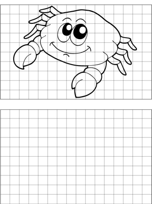 Cute Crab Drawing coloring page