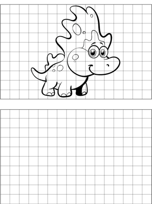 Cute Dinosaur Drawing coloring page