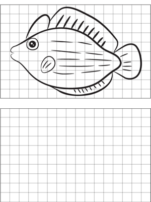 Fish Drawing coloring page