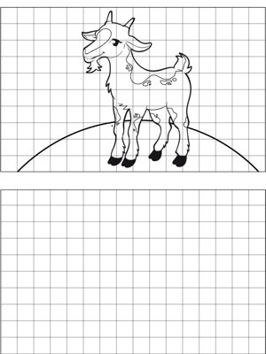 Goat Drawing coloring page
