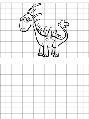 Happy Dinosaur Drawing coloring page