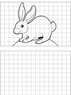 Hare Drawing coloring page