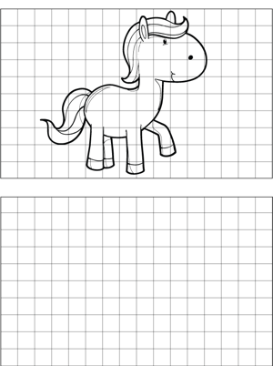 Horse Drawing coloring page