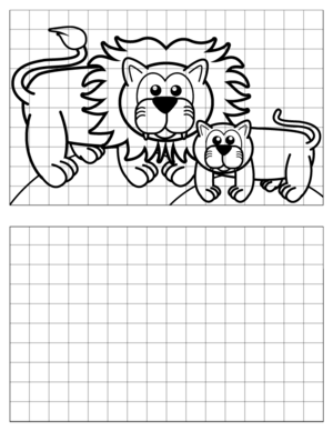 Lion-Drawing-2 coloring page