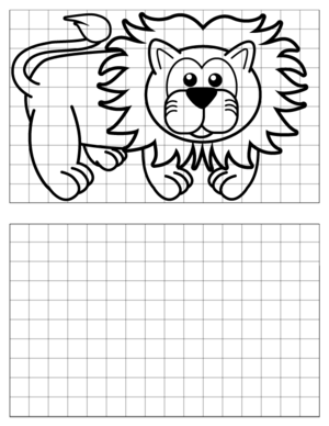 Lion-Drawing coloring page