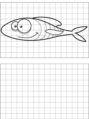 Long Fish Drawing coloring page