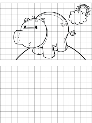Piglet Drawing coloring page