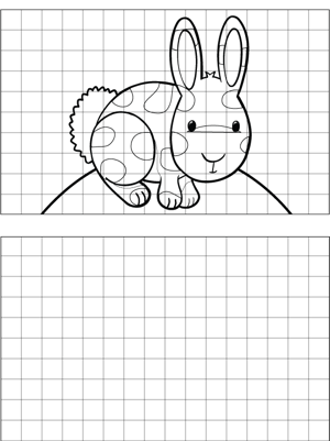 Rabbit Drawing coloring page