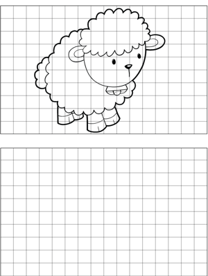 Sheep with Bell Drawing coloring page