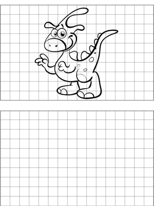 Spotted Dinosaur Drawing coloring page