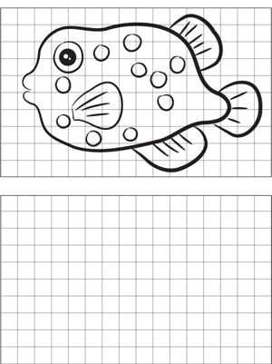 Spotted Fish Drawing coloring page